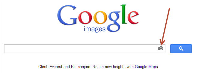 Google image search textbox